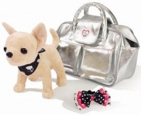 Плюшевая собачка Гламур в серебристой сумочке, Chi Chi Love