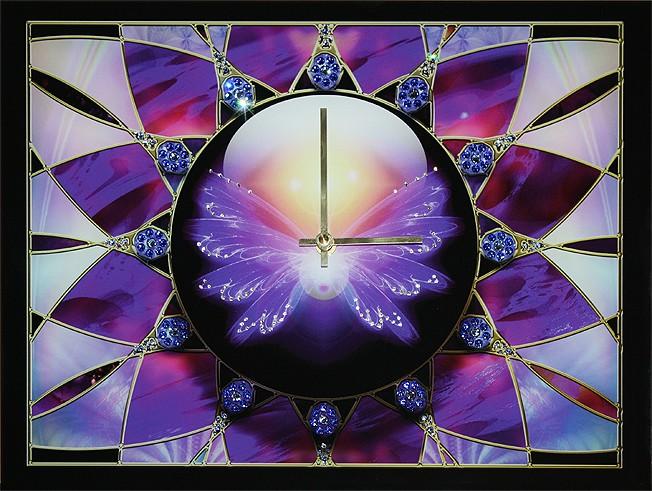 Часы с кристаллами Swarovski Ночной мотылек