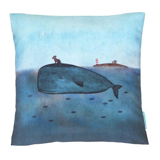 Декоративная подушка Кит и собака
