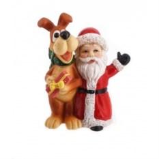 Фигурка Собака и Дед Мороз