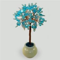 Дерево из топаза Голубое небо