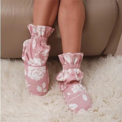 Тапочки-грелки «Розовый бутон»