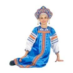 Русский народный костюм: атласный комплект Василиса