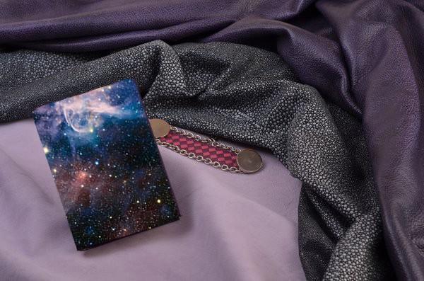 Горизонтальный кардхолдер из кожи Космос