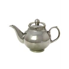 Заварочный керамический чайник под серебро для самовара