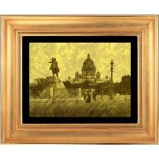 Гравюра из золота Сенатская площадь