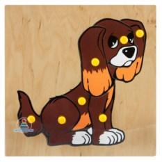 Рамка-вкладыш из 7 деталей «Собака»