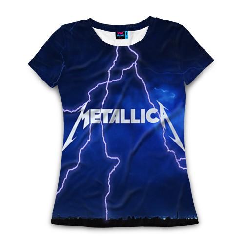 Женская футболка 3D METALLICA