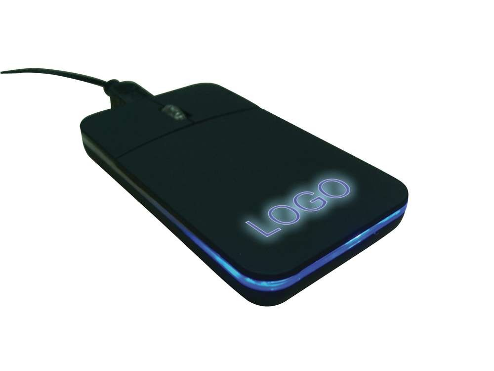 Компьютерная мышка с синей подсветкой