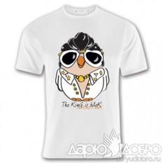 Мужская футболка с совой Элвис