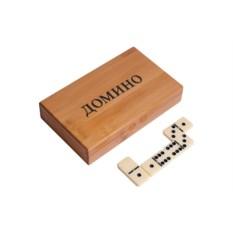 Настольная игра Домино в бамбуковом боксе