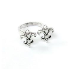 Серебряное кольцо Две лилии
