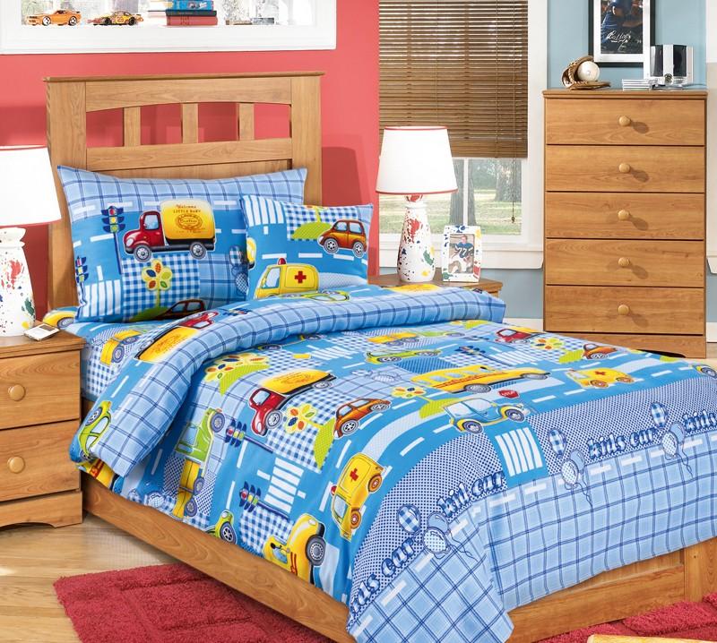 Комплект постельного белья Машинки (ясельный)