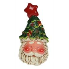 Подсвечник Дед Мороз в шапочке