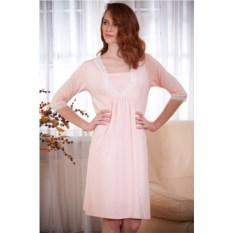 Женская ночная сорочка (цвет: персиковый)