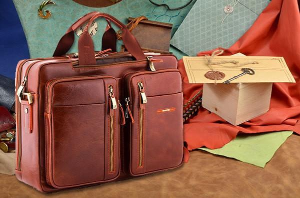 Коричневая сумка коллекции Dor.Flinger из натуральной кожи