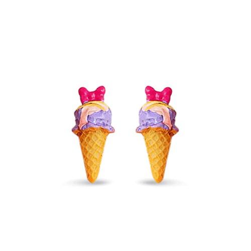 Серьги-гвоздики Purple ice-cream