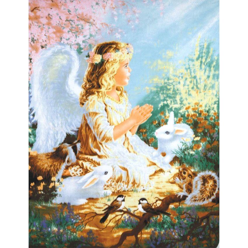 Плед флисовый Ангел