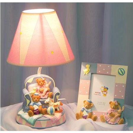 Лампа и фоторамка «Мишки—малышки»