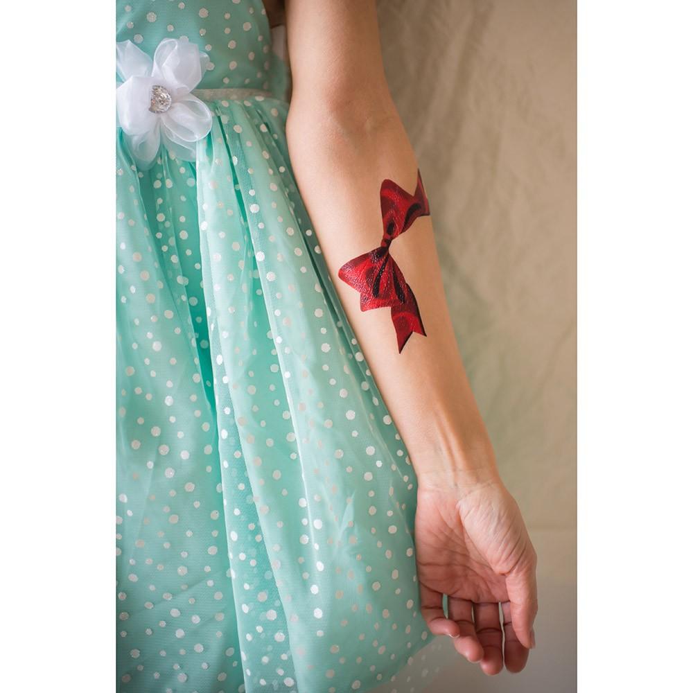 Переводная татуировка от Sasha Unisex Red Bow