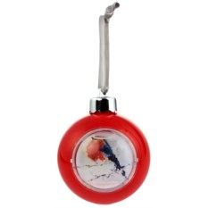 Красный елочный шар-шкатулка