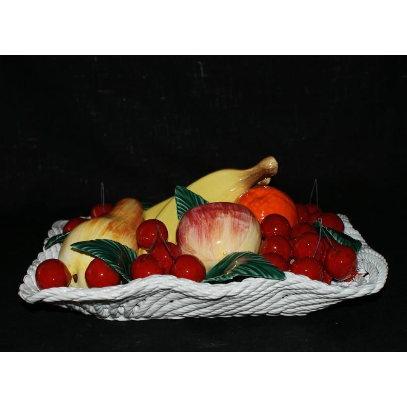 Поднос прямоугольный с фруктами и вишнями