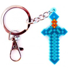 Резиновый брелок Minecraft Алмазный меч