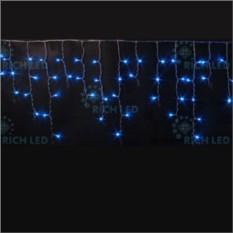 Мерцающая светодиодная бахрома синего цвета 3х0,5 м