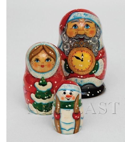 Малая матрешка Дед Мороз