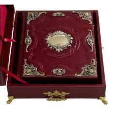 Родословная книга в ларце (бронзовое литьё, экокожа)