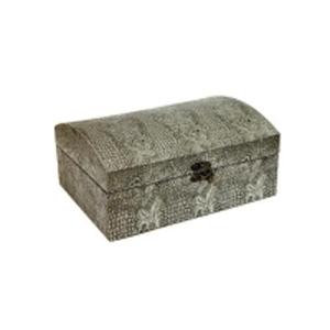 Сундучок «Кожа питона» серебро