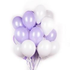 Бело-фиолетовые шары