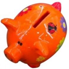 Копилка Оранжевая свинка