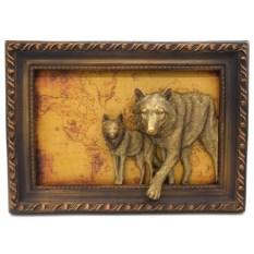 Настенное объемное панно Волки