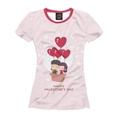 Женская футболка На шаре любви