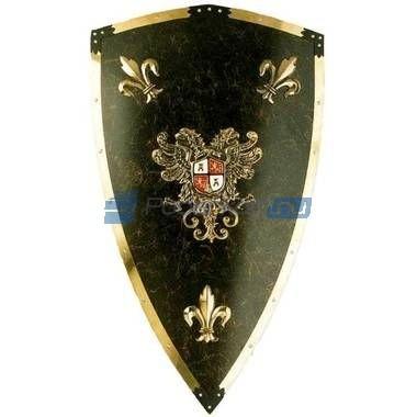 Рыцарский темно-зеленый щит