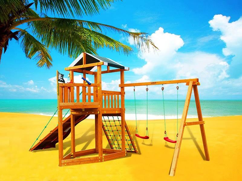 Детская игровая площадка для улицы из дерева Городок Баунти Cамсон