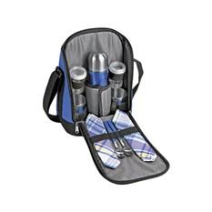 Набор для пикника чёрный с синими вставками