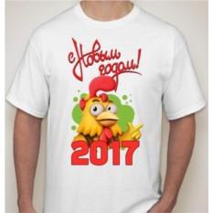 Мужская футболка с петухом С новым годом