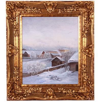 Картина «Деревня зимой»