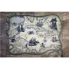 Столик для завтрака в постель Пиратская карта