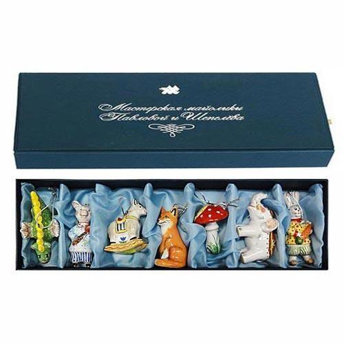 Набор ёлочных игрушек № 6 в подарочной коробке