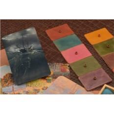 Горизонтальный кардхолдер-книжка из кожи Морское чудовище