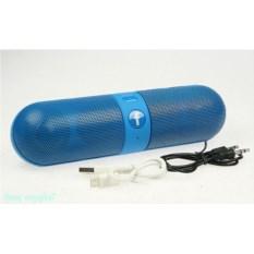 Голубая портативная беспроводная колонка Bluetooth