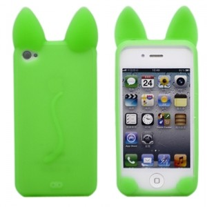 Чехол для iPhone 4/4S Kitty (мятный)