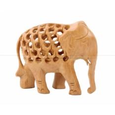Прорезная статуэтка Слон с опущенным хоботом вниз