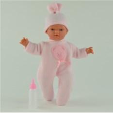 Игровая кукла ASI Гугу в розовом комбинезоне (36 см)
