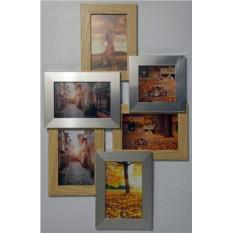 Настенная фоторамка Екси-еос деревянная