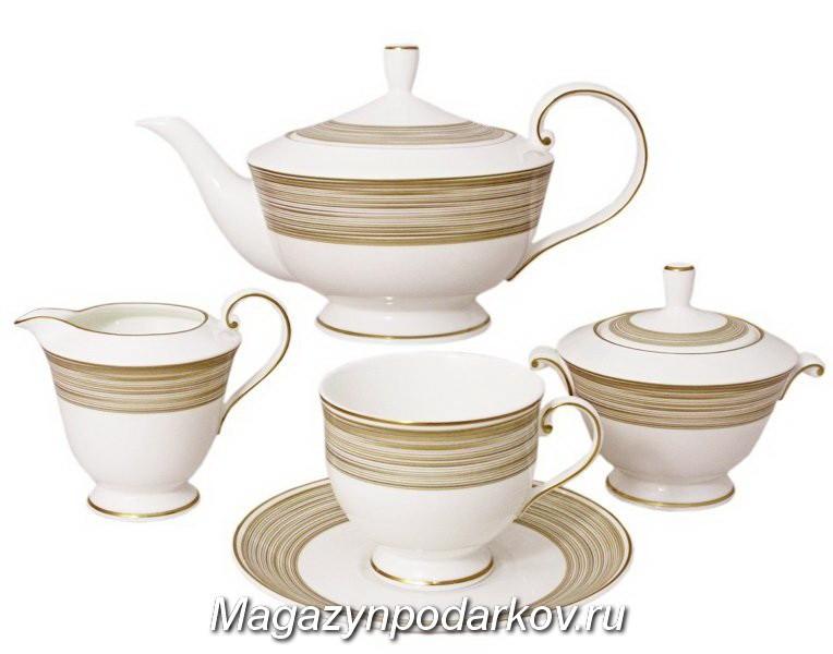 Чайный сервиз на 6 персон Narumi Золотой вихрь