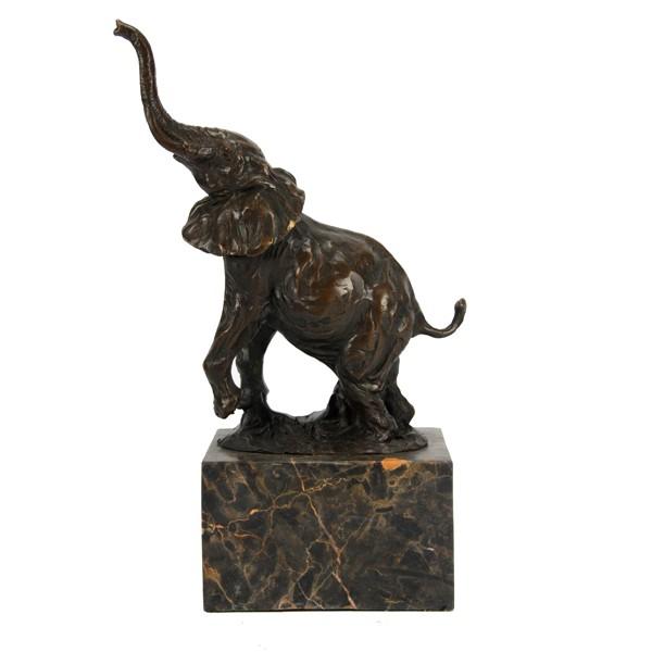 Бронзовая статуэтка Слон на мраморе